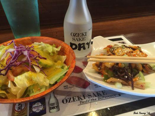 House Salad Saki Appetizer
