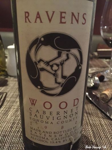 A good 30 year old Ravenswood that we shared.