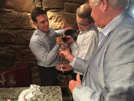 Decanting a 30 year old Beringer