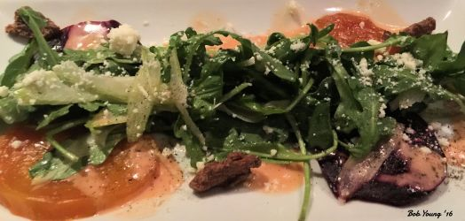 Bethane's Beet Salad with Blood Orange vinaigrette and Feta Cheese