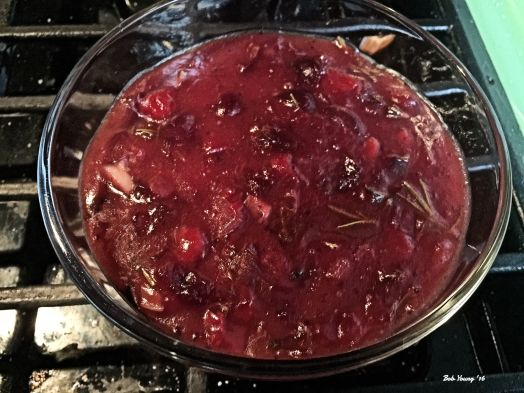 Here is the Cranberry/Cherry sauce for the duck.