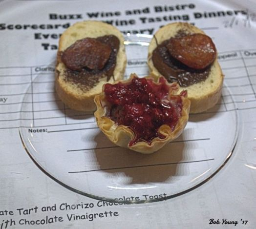 Brie and Chocolate Tart Chorizo Chocolate Toast