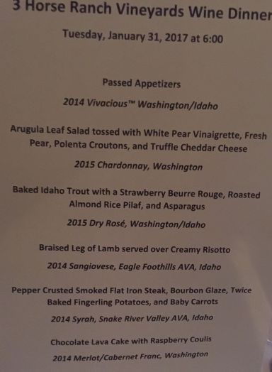 The menu. Look what you missed!