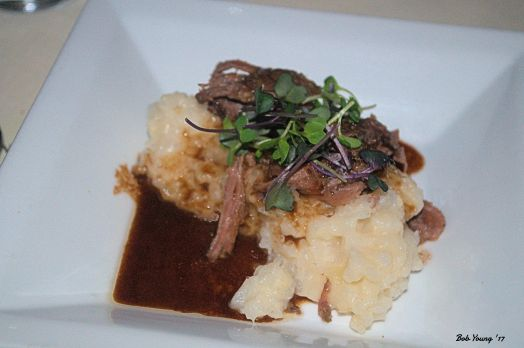 Braised Leg of Lamb servedx over Creamy Risotto