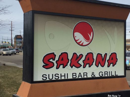 Sakana sign on W State Street, Boise.