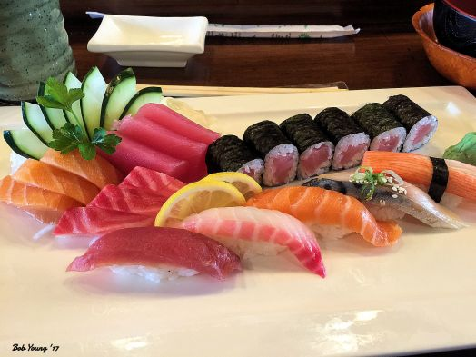 I had a Sushi and Sashimi Plate.